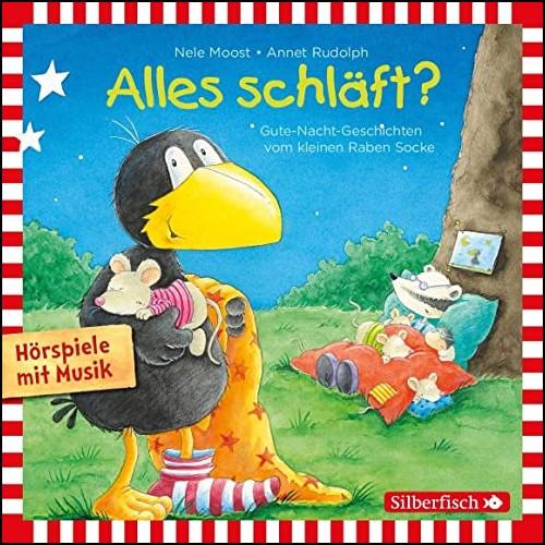 Kleiner Rabe Socke: Alles schläft? (Nele Moost,Annet Rudolph) Silberfisch-Hörbuch Hamburg 2020