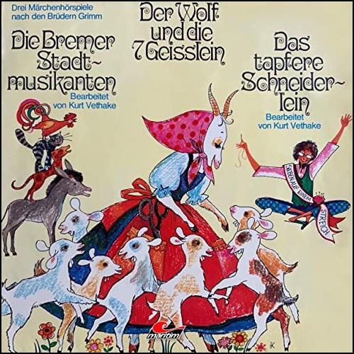Der Wolf und die sieben Geißlein - Die Bremer Stadtmusikanten - Das tapfere Schneiderlein (Gebrüder Grimm) Maritim 1974 - All Ears 2020